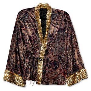 Free People Layla Embellished Kimono Jacket NEW